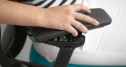 Five-way adjustable arms will support your arms, reducing shoulder and neck strain