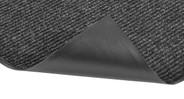 Vinyl backing and border minimizes mat movement