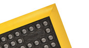 Mini-diamond studs on surface improve traction and minimize slips and falls