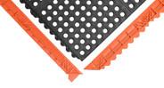 Ramps convert mat edges to a beveled edge