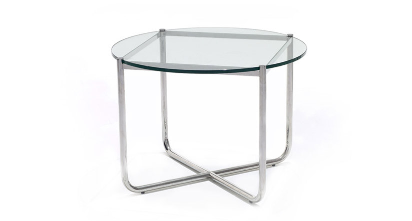 Clear polished plate glass top