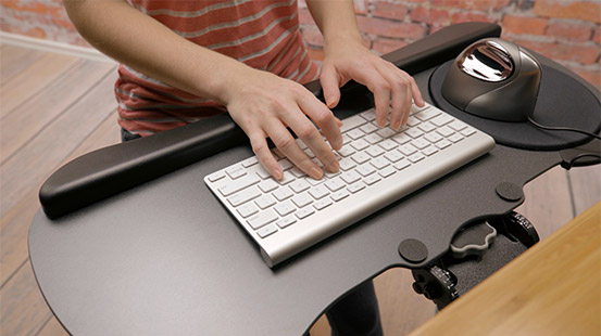UPLIFT Adjustable Height Standing Desk and Keyboard Tray