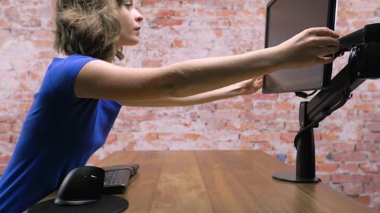 UPLIFT's Height Adjustable Desk workstation lets you work better