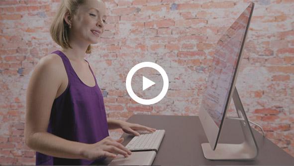 UPLIFT Adjustable Height Desk video