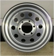 16 Rim 16x6 6Bolt 6x5.5 Silver 4in Center Mod Trailer Wheel