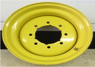 16.5 Rim 16.5x8.25 8Bolt Yellow 5.75in Cut Center Skid Wheel