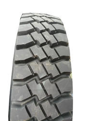 11.00 20 Goodyear Tires Military Radial Takeoffs 11.00R20 on Green Rims