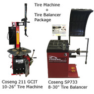 New Tire Machine & Balancer Combo Deal: Coseng 211 GCIT & Coseng SP733