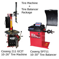 New Tire Machine & Balancer Combo Deal: Coseng 211 GCIT & Coseng SP711