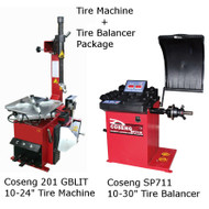 New Tire Machine & Balancer Combo Deal: Coseng 201 GBLIT & Coseng SP711