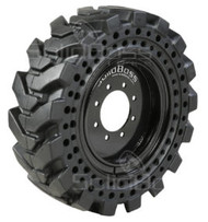 10 16.5 SIL Solidboss Solid G2 With Aperature Holes on 8on8 Black Rim 10x16.5 Skid Steer SIL