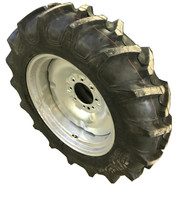 New Tire 11.2 24 Harvest King Assembly 8 ply 11.2x24 Tire Tube Mounted on Galvanized Rim  USAF
