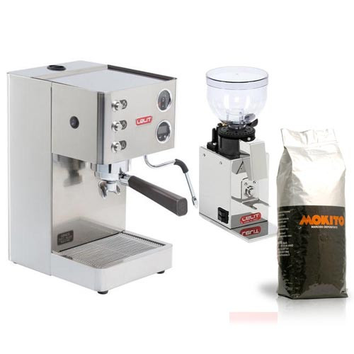 LELIT PL81T Grace Single Boiler PID Espresso Coffee Machine and LELIT Doser-less Grinder Combo
