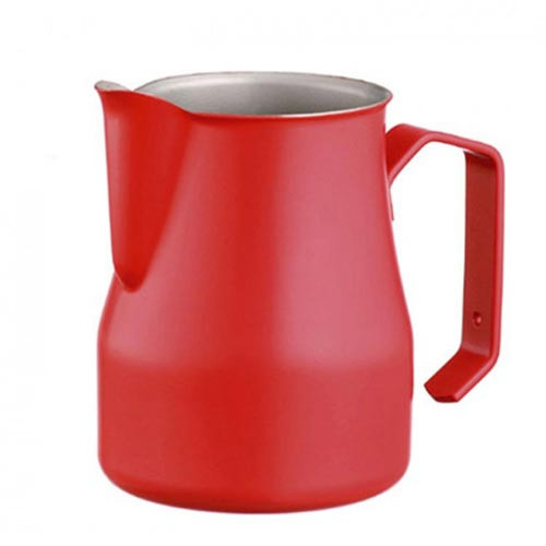 Motta Europa 500ml Milk Steaming Jug / Pitcher Red