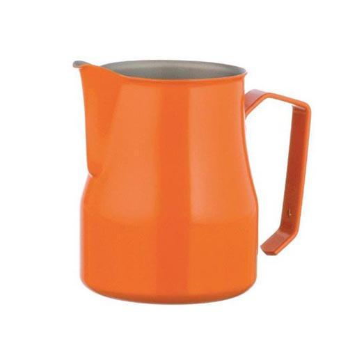 Motta Europa 500ml Milk Steaming Jug / Pitcher Orange