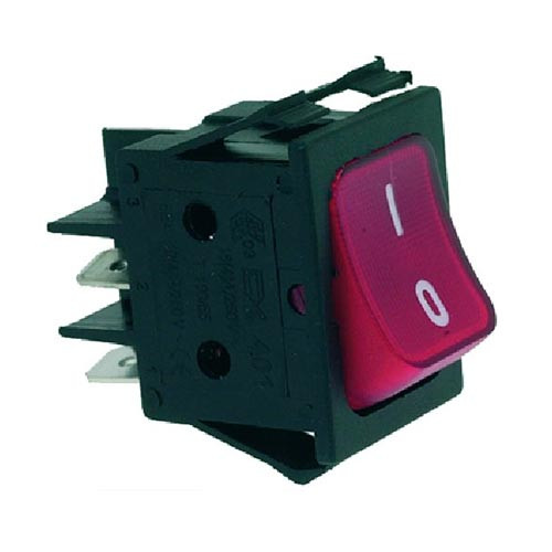 Red DPST Switch 16A 250V