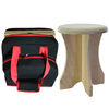 This sauna poplar wood stool collapses and fits into accompanying travel bag