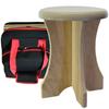 Portable poplar stool and travel bag at Go Healthy Next.