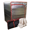 Sauna Radiant Tent, portable storage bag, and organic bamboo fleece included with the Sauna Fix® Ultimate Bundle 110 V International