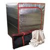 Sauna Fix® radiant tent, tent travel bag and organic bamboo fleece throw rug