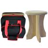 Sauna poplar stool and stool travel bag. The sauna poplar stool assembles and disassembles quickly for easy portability