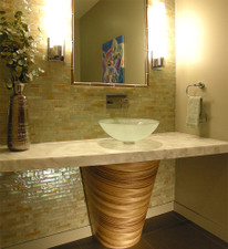 Zebrawood Veneer Bathroom Base