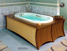 Walnut and Figured Maple Veneer Bath