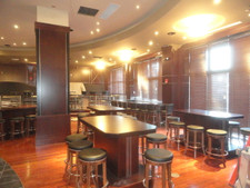 Restaurant Remodel in Mahogany Wood Veneer
