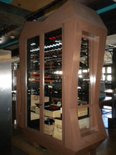 Walnut Veneer Restaurant Wine Cabinet