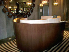 Wenge and White Oak Veneer Reception Area