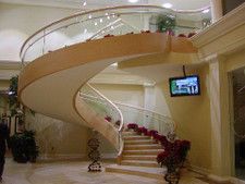 Birdseye Maple Veneer Staircase