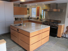 Swiss Pearwood Veneer Kitchen