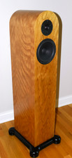 Curly Cherry Veneer Floor Speakers