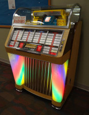 Seeburg Jukebox With Red Oak and White Birch Veneer