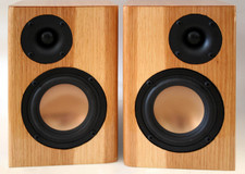 Two-Tone Pecan Veneer Speakers