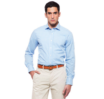 Clarendon Blue Gingham Shirt