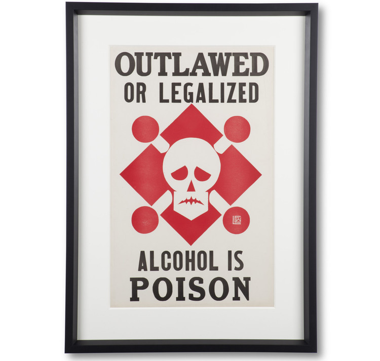 """""""Alcohol Is Poison"""" Prohibition Poster"""