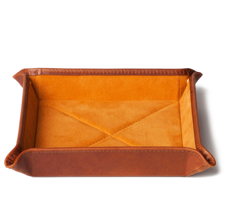Havana Leather Travel Tray