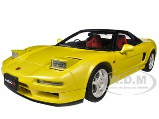 Honda Nsx Type R Yellow 1 18 Diecast Car Model Autoart 73297