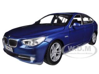 BMW 5 Series GT Blue 1/24 Diecast Car Model Motormax 73352