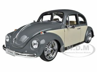 Volkswagen Beetle Low Rider Grey 1/24 Diecast Car Model Welly 22436
