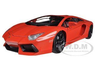 Lamborghini Aventador Lp700 4 Orange 1 18 Diecast Car Model Motormax