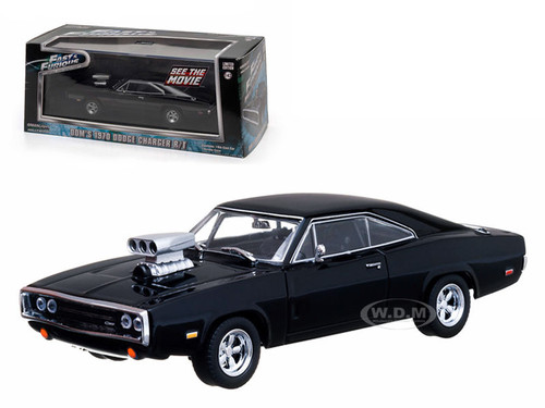 dom 39 s 1970 dodge charger black the fast and the furious movie 2001 1 43 diecast car model. Black Bedroom Furniture Sets. Home Design Ideas