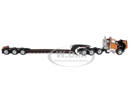 KENWORTH T880 TRI AXLE LOWBOY TRAILER AZTEC GOLD/BLACK 1
