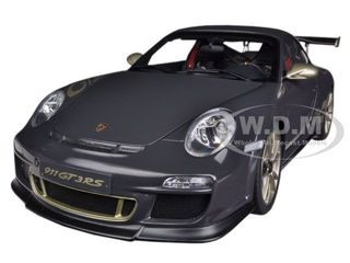 Porsche 911 (997) GT3 RS 3 8 Grey Black With White Gold Stripes 1/18  Diecast Car Model by Autoart