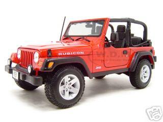 Jeep Wrangler Rubicon Red 1/18 Diecast Model Car Maisto 31663