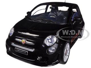 Fiat 500 Abarth Black 1 18 Diecast Car Model Motormax 79168