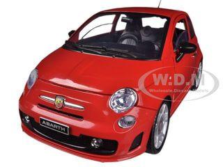 Fiat 500 Abarth Red 1 18 Diecast Car Model Motormax 79168