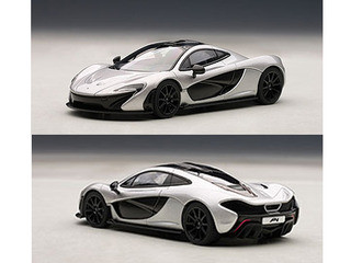 mclaren p1 black and white. mclaren p1 ice silver 143 diecast car model autoart 56013 black and white