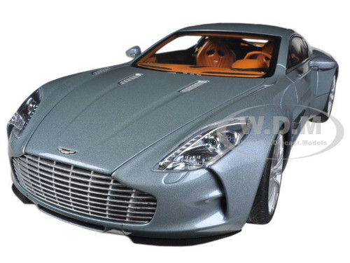 Aston Martin One 77 Villa Du0027Este Blue 1/18 Diecast Model Car Autoart 70243